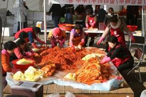 preparazione kimchi