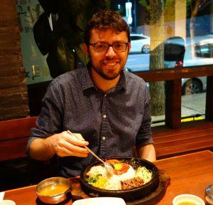 Mangiando Bibimbap a Gwangju