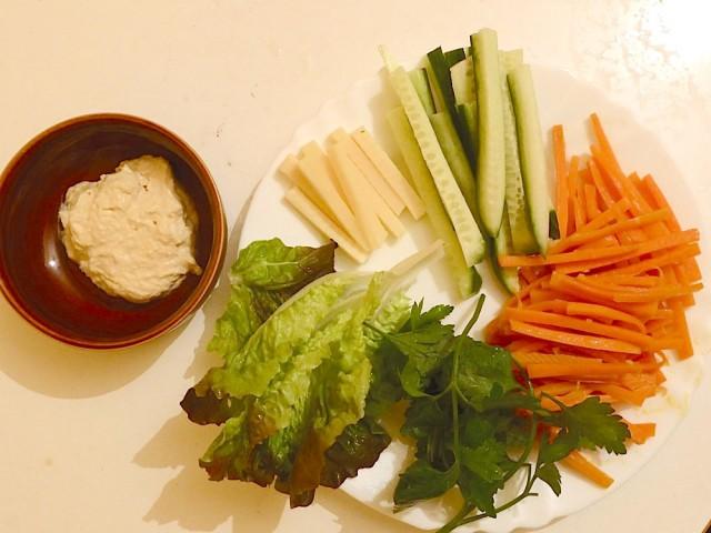 hummus kimbap ingredienti