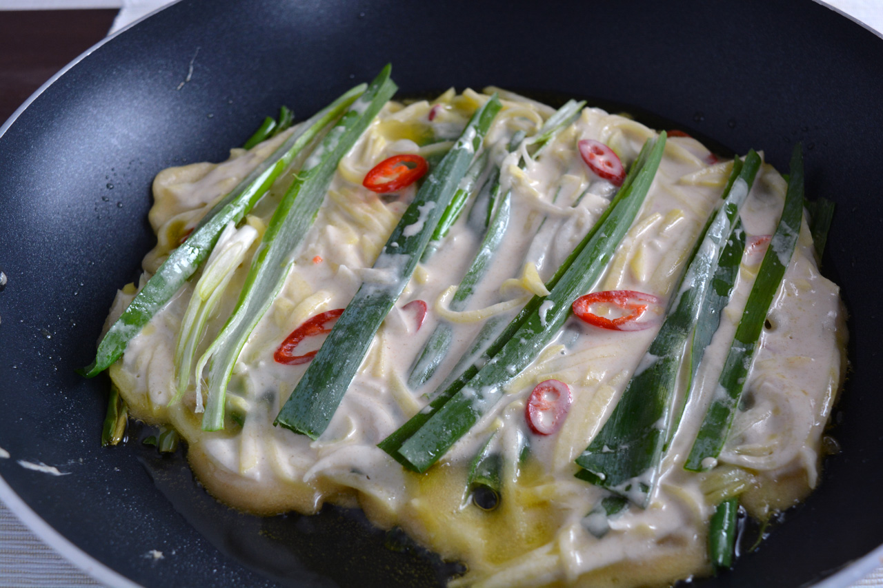 mix pajeon in padella
