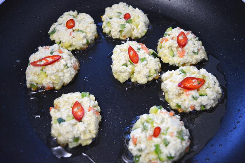dubu jeon frittelle di tofu padella