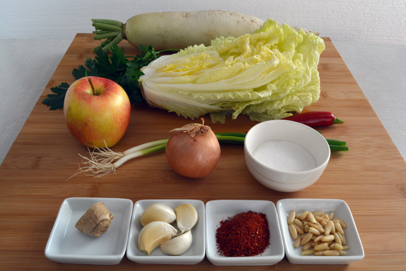 ingredienti mul kimchi
