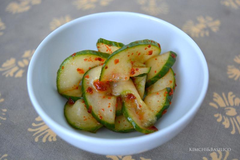 insalata di cetrioli coreana