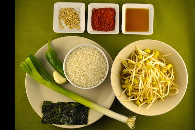 ingredienti zuppa germogli di soia