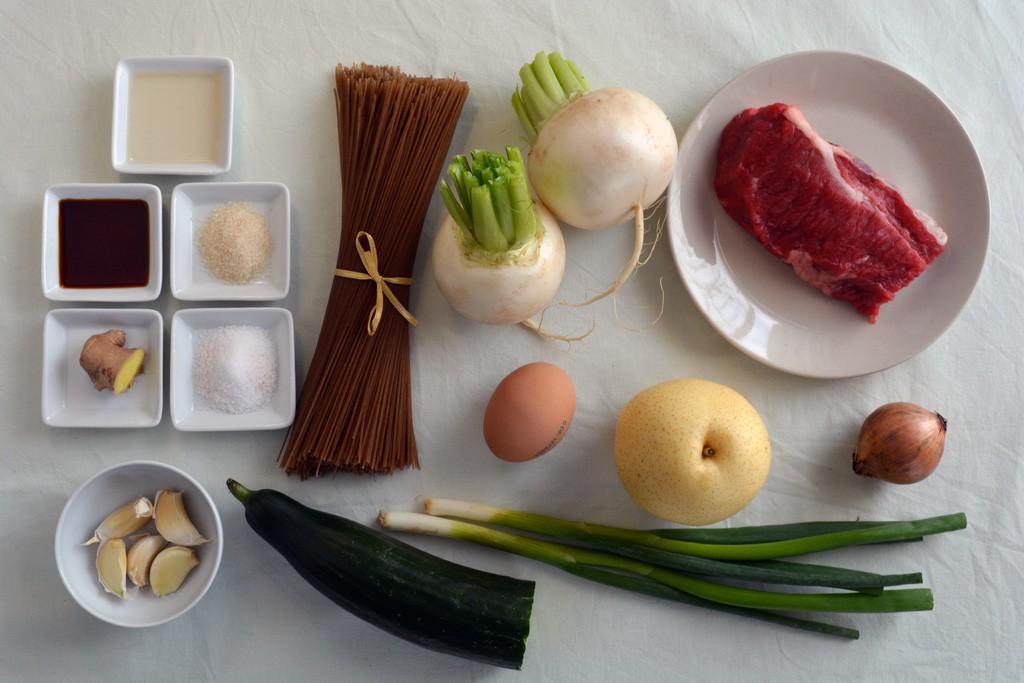 mul naengmyeon ingredienti
