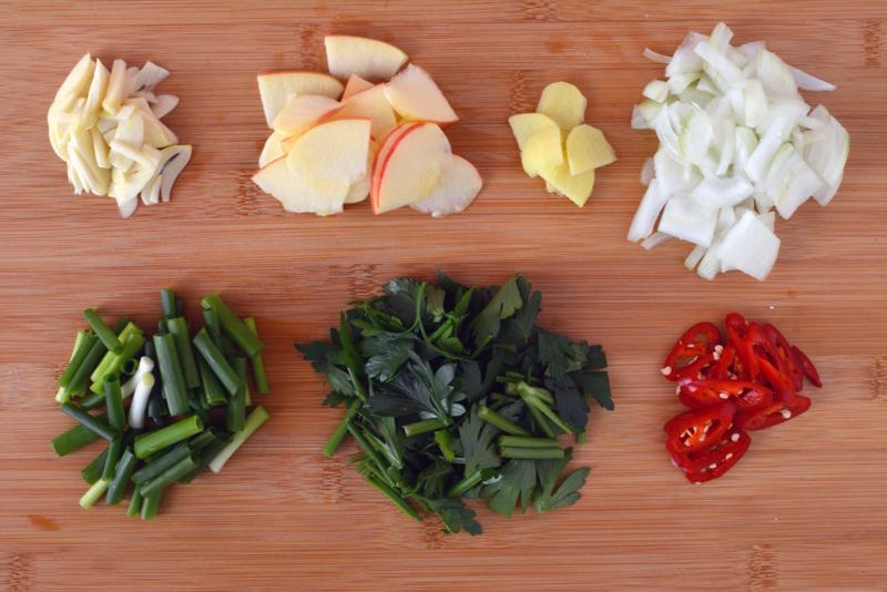 kimchi acquoso ingredienti preparati