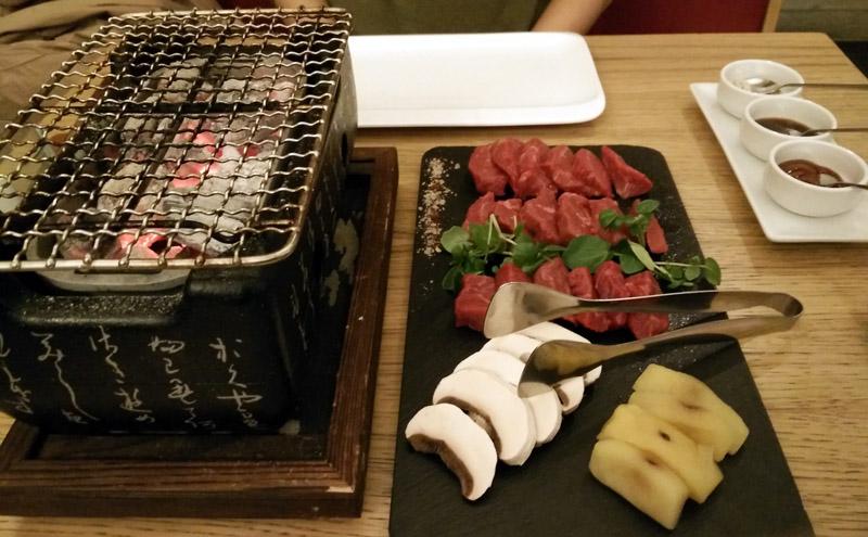 barbecue e verdure