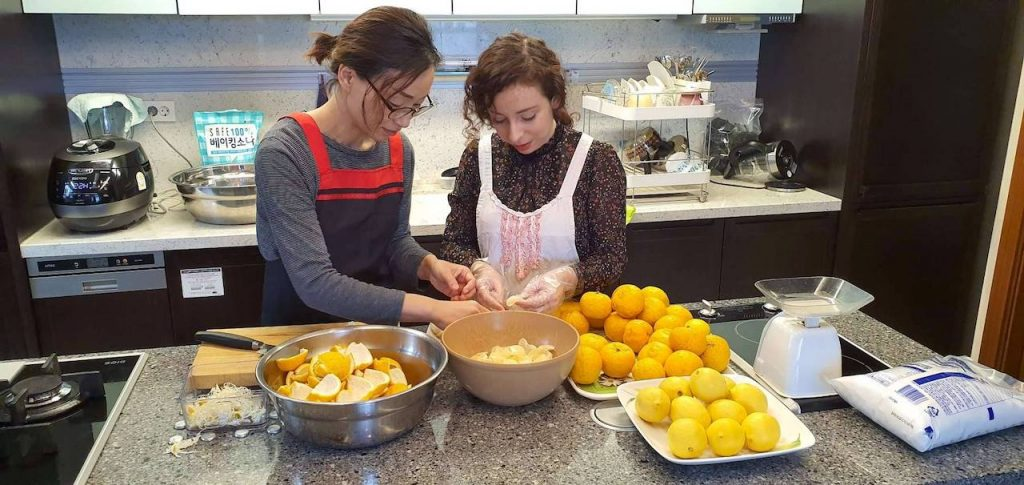 yuja cheong preparazione marmellata di agrumi